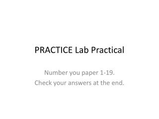 PRACTICE Lab Practical