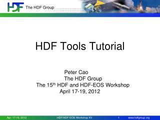 HDF Tools Tutorial