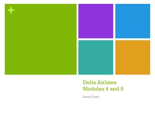 Delta Airlines Modules 4 and 5