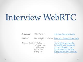 I nterview  WebRTC