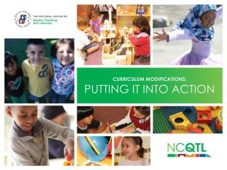 Curriculum modifications: putting it into action