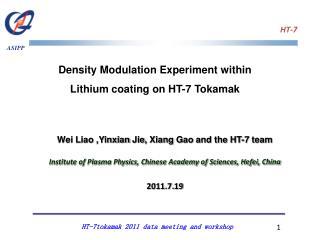 Density Modulation Experiment within Lithium coating on HT-7  Tokamak