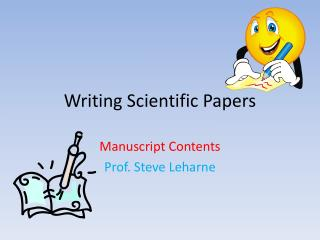 Writing Scientific Papers