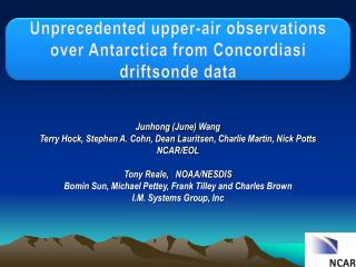 Unprecedented upper-air observations over  Antarctica  from  Concordiasi driftsonde  data