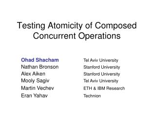 Testing Atomicity of Composed Concurrent Operations