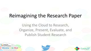 Reimagining the Research Paper