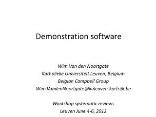 Demonstration  software