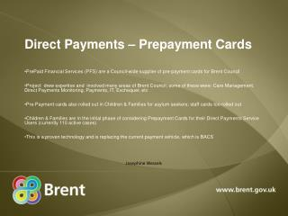 Direct Payments – Prepayment Cards