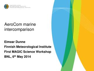 AeroCom  marine  intercomparison