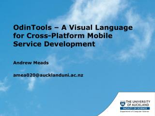 OdinTools  � A Visual Language for Cross-Platform Mobile Service Development