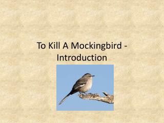 To Kill A Mockingbird - Introduction