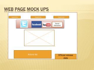 Web page Mock ups