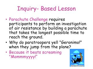 Inquiry- Based Lesson