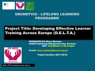 GRUNDTVIG - LIFELONG LEARNING PROGRAMME