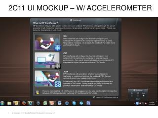 2 C11 UI Mockup – w/ accelerometer