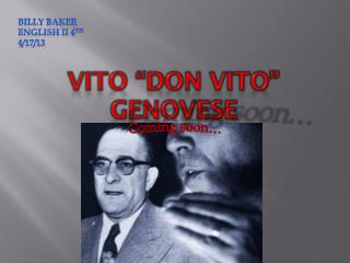 """Vito """"Don Vito"""" Genovese"""