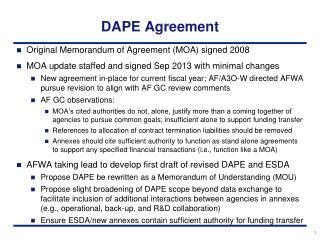 DAPE  Agreement
