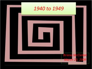 1940 to 1949