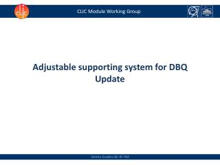 CLIC Module Working Group