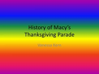 History of Macy's Thanksgiving Parade