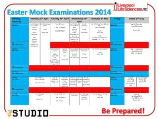 Easter Mock Examinations 2014