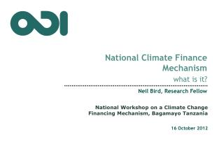 National Climate  Finance Mechanism