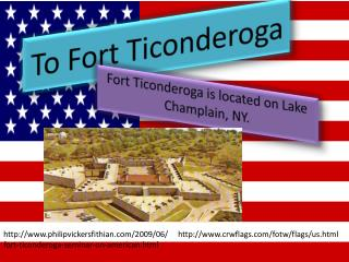 To Fort Ticonderoga