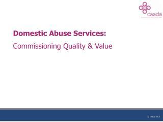 Domestic Abuse Services: