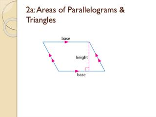2a: Areas of Parallelograms & Triangles