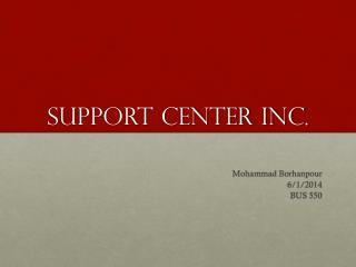 Support Center Inc.