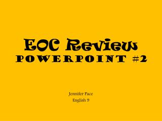 EOC Review  PowerPoint #2