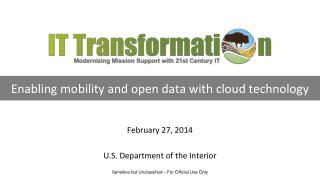 Enabling mobility and open data with cloud technology
