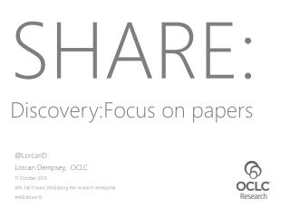 SHARE: Discovery:Focus  on papers