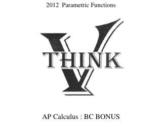 2012   Parametric Functions