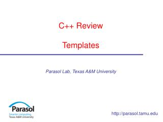 C++ Review Templates