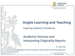 Academic Honesty and Interpreting Originality Reports