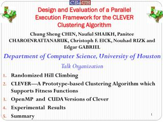Design and Evaluation of a Parallel Execution Framework for the CLEVER Clustering Algorithm