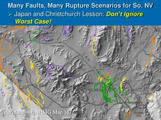 Many Faults, Many Rupture Scenarios for So. NV