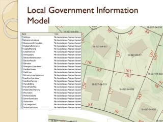 Local Government Information Model
