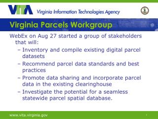 Virginia Parcels Workgroup