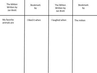 The Mitten Written by Jan Brett