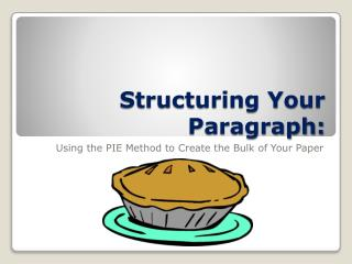 Structuring Your Paragraph: