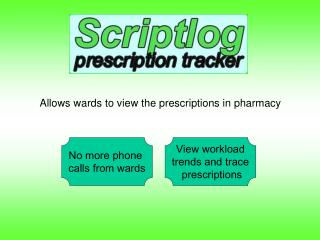 Allows wards to view the prescriptions in pharmacy