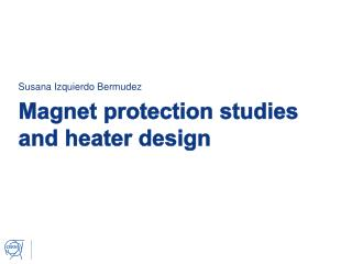 Magnet protection studies and heater design