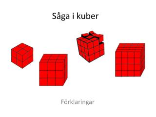 Såga i kuber