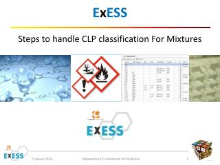 E x ESS Steps to handle CLP classification For Mixtures