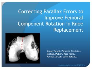 Correcting Parallax Errors to Improve Femoral Component Rotation in Knee Replacement