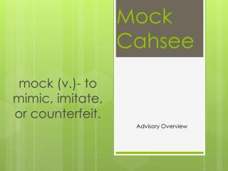 Mock  Cahsee