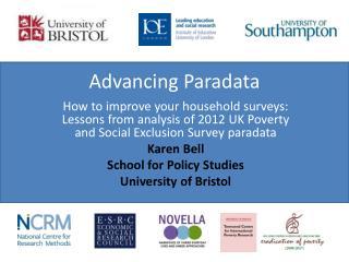Advancing  Paradata
