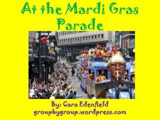 At the Mardi Gras Parade